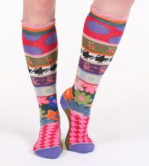 London women's silly cotton knee-high socks designed in France by Dub & Drino