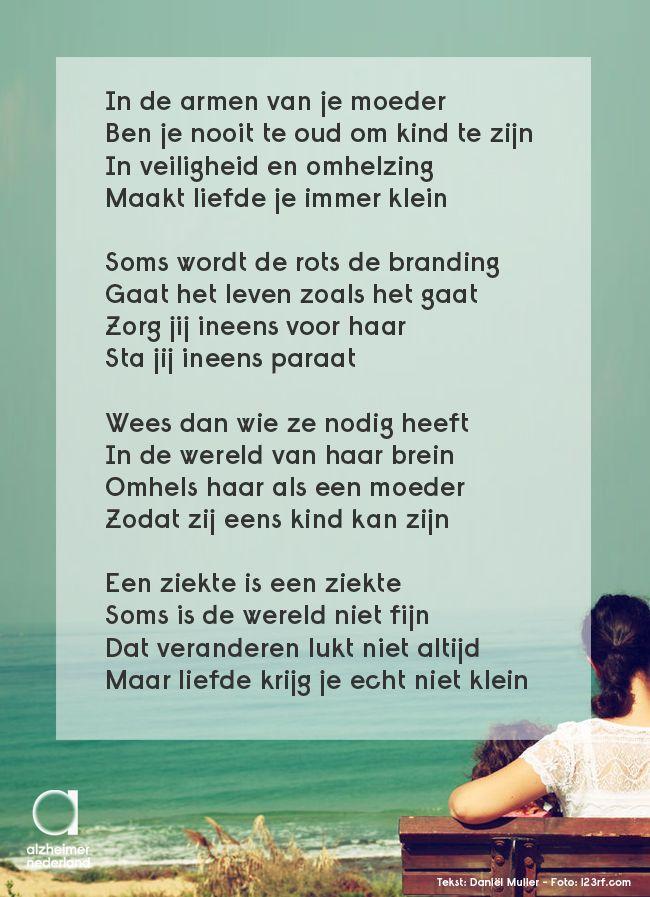 In de armen van je moeder ben je nooit te oud om kind te zijn... #gedicht #dementie #alzheimer #moederdag
