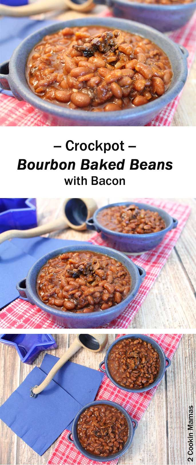 You'll never need another baked bean recipe after you try our Bourbon Baked Beans! Easy, healthy & chock full of bacon, veggies, molasses & spices. via @2CookinMamas
