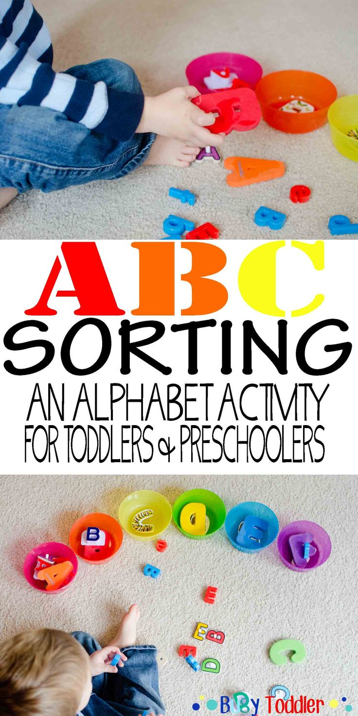 ABC Sort: An alphabet activity for toddlers and preschoolers.