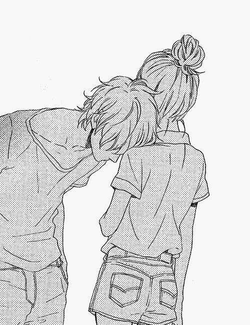 I died. This is so sweet. He's not kissing her or hugging her or saying romantic poems.This one silent gesture conveys how much he loves her, and it's adorable.