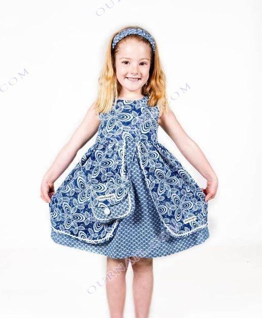 3bac5143f93 A beautiful Shweshwe Dress For Kids 2019