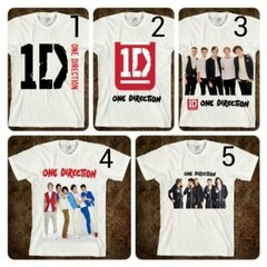 "[KODE: T-1D 01] T-Shirt ""One Direction"" || Size: S-XXL || Rp 75.000 (design sendiri +10rb)"
