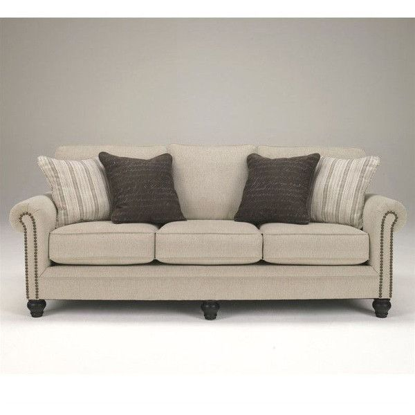 signature design by ashley furniture milari microfiber sofa 630 liked on polyvore featuring