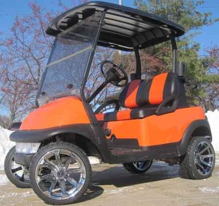 New 2012 Club Car Precedent 48V Burnt Orange Lifted Electric Golf Cart FOR SALE ATVs For Sale in Illinois.