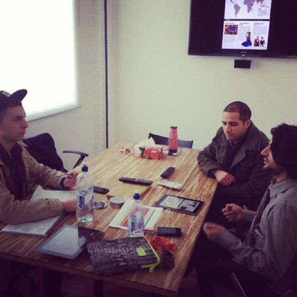 Our guys working on our Crave Agency app #appdevelopment #brainstorming #graphics #creative