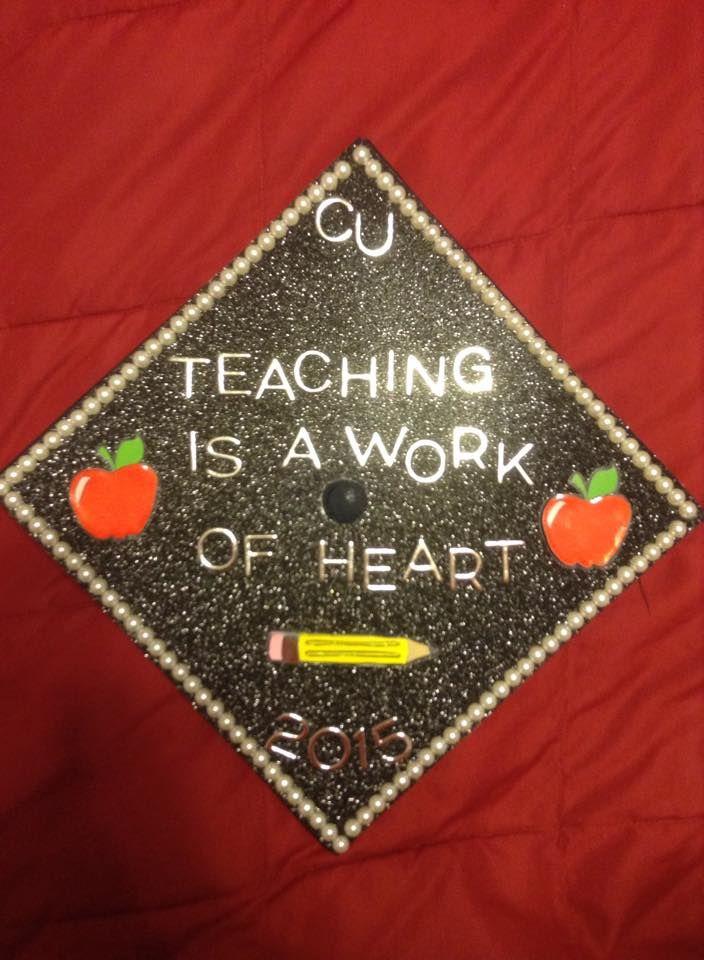 Campbell University - Graduation Cap - Elementary Education- decorated graduation caps - teacher graduation caps