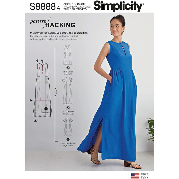 Simplicity 8888 Misses' Design Hacking Dress sewing pattern