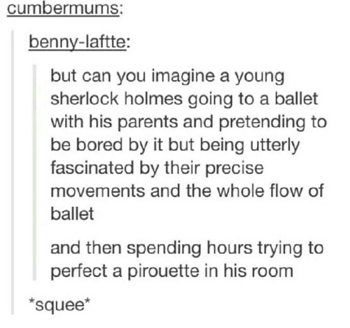 This is adorable :) :) no but seriously I love this because I took ballet when I was younger.