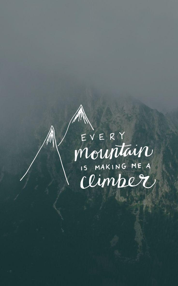every mountain making me a climber, meredith andrews britt lauren designs handlettering song lyric