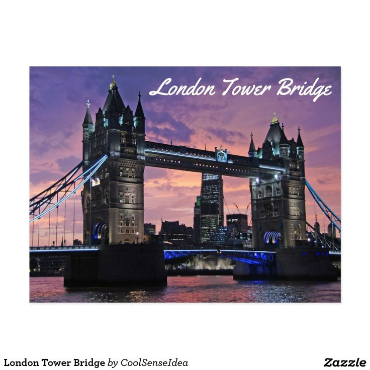 London Tower Bridge Postcard