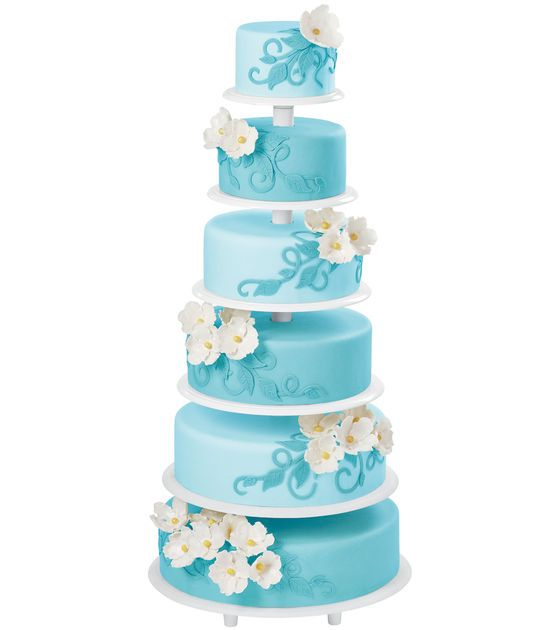 Arrange layers of creamy cakes or cupcakes in a delightful manner on the Wilton Towering Tiers Cake Stand. You can use the 6 plates with this cake stand in way you want. Mount them together to create