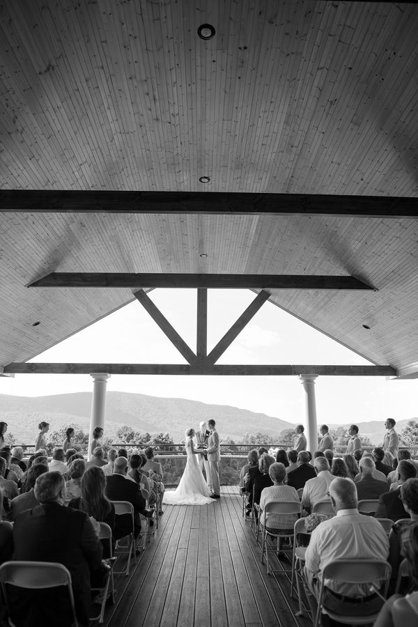 Ceremony At The House Mountain Inn In Lexington Va Katelyn James Wedding