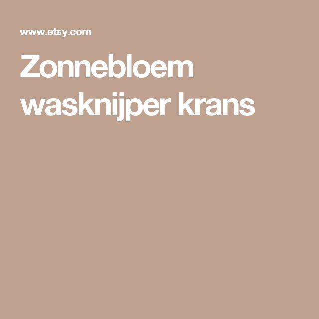 Zonnebloem wasknijper krans