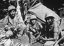 Battle of Saipan - Navajo codetalkers played a key role in directing naval gunfire onto Japanese positions.