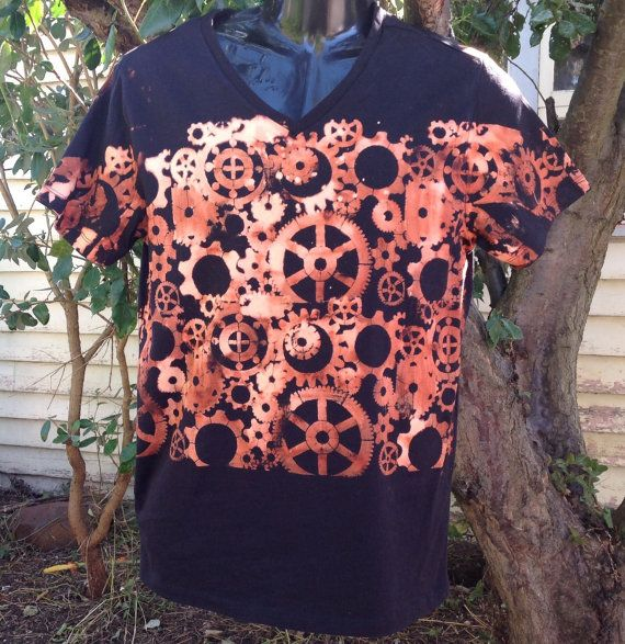 Steam punk bleached t shirt unisex short sleeved by SewObsession