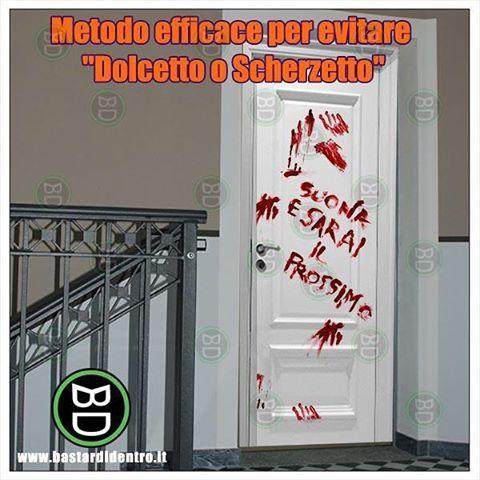 #dolcetto o #scherzetto ? #halloween #festa #horror #giornodellestreghe #bastardidentro #dolcettooscherzetto #porta… www.bastardidentro.it