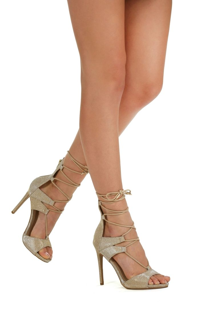 Promo- Gold Glitz And Glam Heels