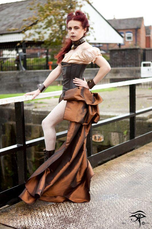 SALOON GIRL Long Burlesque Luxe Saloon by GothicBurlesque,