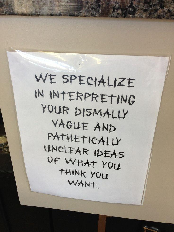 A pretty true sign in my local tattoo shop. - Imgur