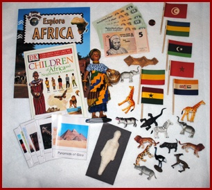 Africa continent box