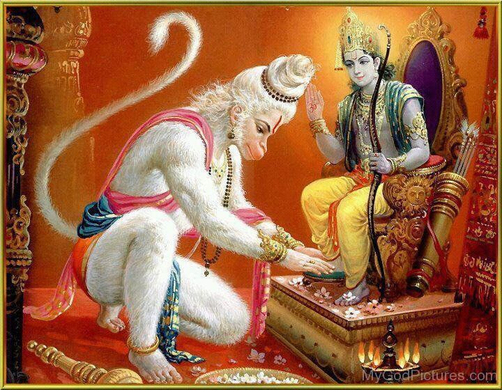 Lord Rama Giving Blessing To Lord Hanuman