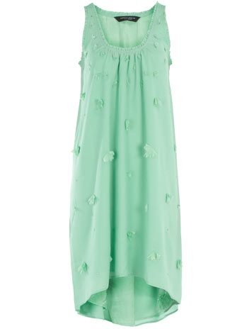 Mint flower asymmetric dress