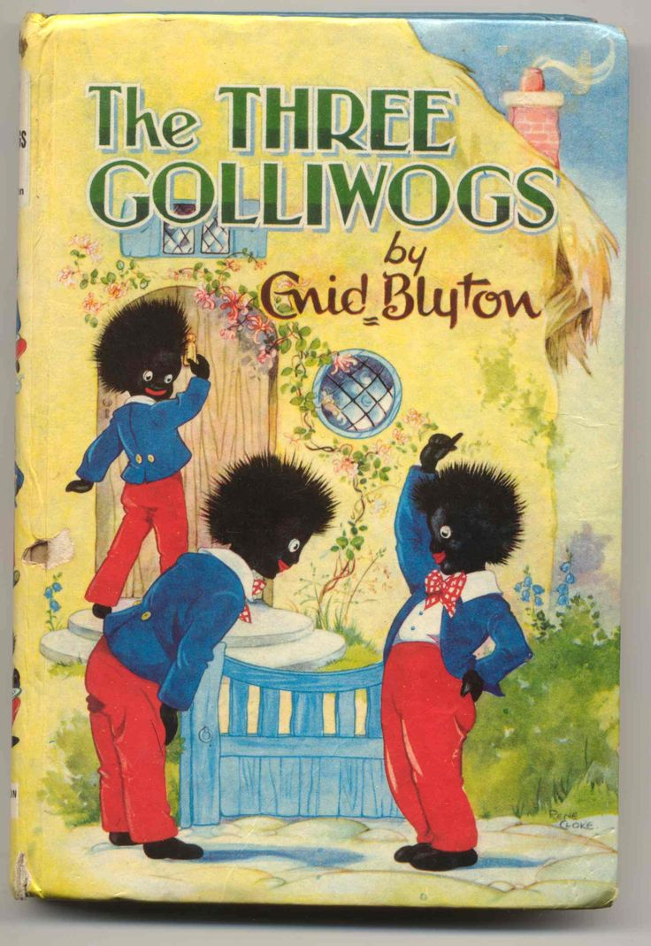 Banned book cover from the 1940s - The Three Golliwogs by Enid Blyton
