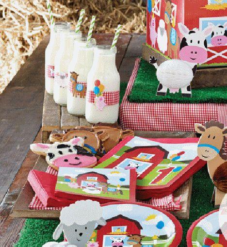 Super leuk boeren kinderfeestje - bordjes, bekertjes en meer papierwaren #kinderfeestje