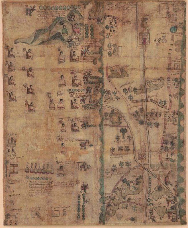 Rare 400-Year-Old Map Traces Indigenous Roots in Mexico. Approx. year 1593