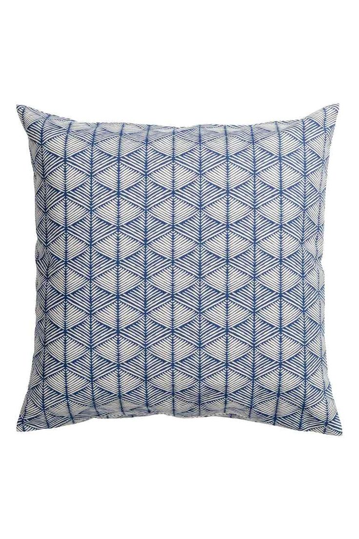 Patterned cushion cover - Dark blue - Home All | H&M GB 1