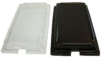 Clear or Black Lid for Size 1 Smart Bowl with notch for food ticketing Polar Displays & Print