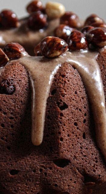Chocolate Pumpkin Cake with Hazelnut Praline Icing ❊