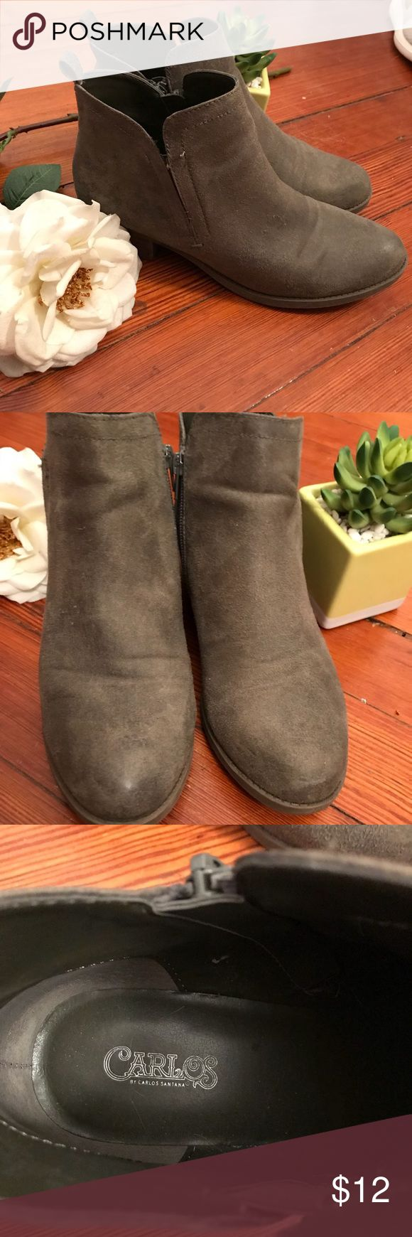 Carlos green booties Carlos green booties. Have been worn a couple times, overall good condition though! Make me an offer ☺️!!! Carlos Shoes Ankle Boots & Booties