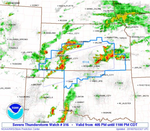 SPC Severe Thunderstorm Watch 316 - http://blog.clairepeetz.com/spc-severe-thunderstorm-watch-316/