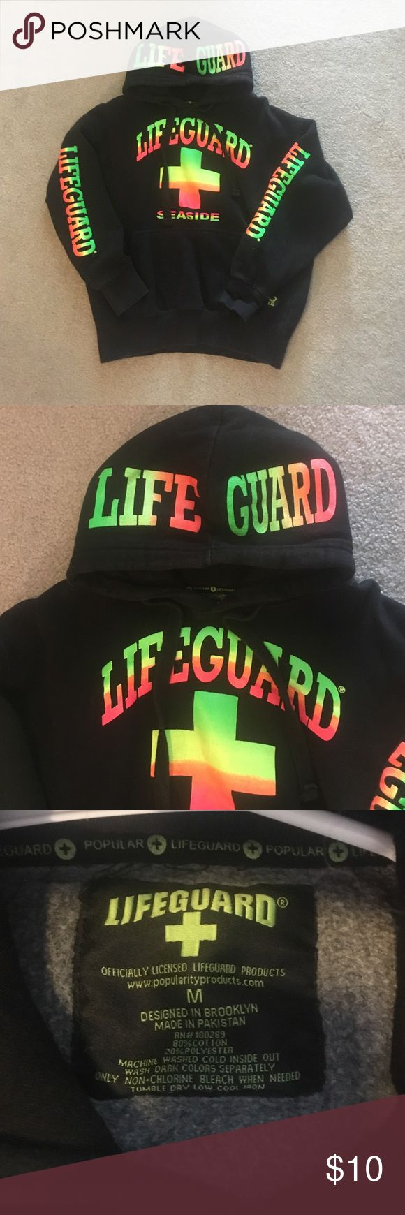 Neon life guard sweatshirt Good condition neon life guard sweatshirt. Everything must go BUNDLE to save and all offers are accepted lifeguard Tops Sweatshirts & Hoodies