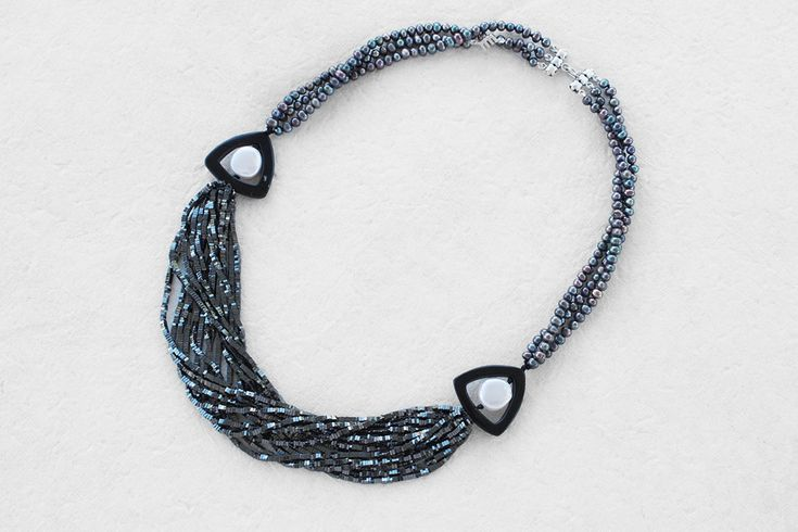 Hematite & Pearl Necklace