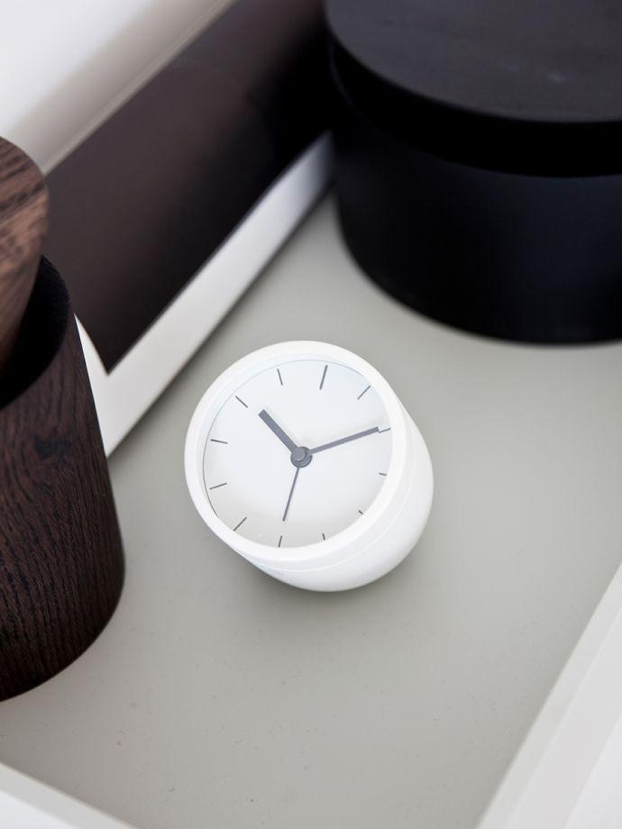 Menu Tumbler Alarm Clock By Norm Architects Scandinavian Alarm Clock That Shutss Off Upside Down Menudesignsho Minimalist Alarm Clock Norm Architects Clock