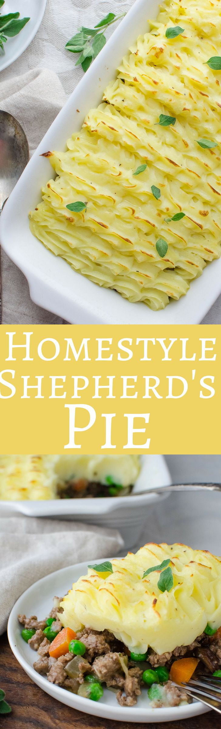 This classic recipe for Homestyle Shepherd's Pie is the ultimate comfort food with mashed potatoes, savory beef filling and creamy gravy!