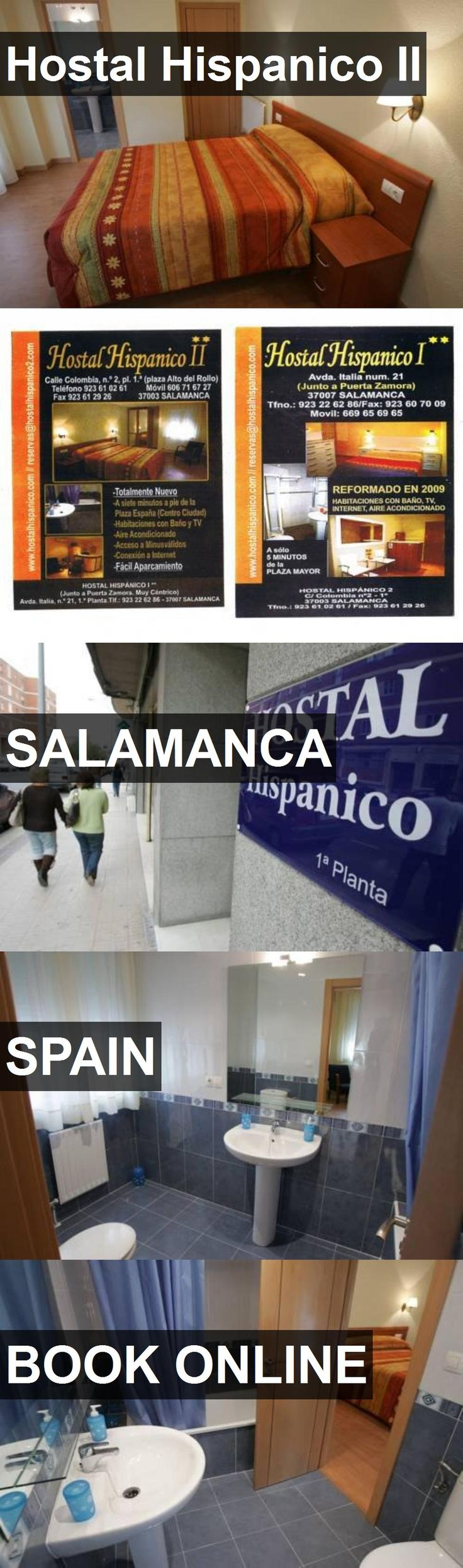 Hotel Hostal Hispanico II in Salamanca, Spain. For more information, photos, reviews and best prices please follow the link. #Spain #Salamanca #travel #vacation #hotel