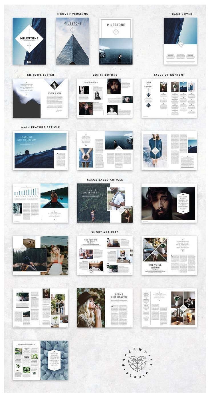 MILESTONE Magazine von Paperwhite Studio auf Kreativ … – #Kreatives #Layout #Magazin  – Magazine Design