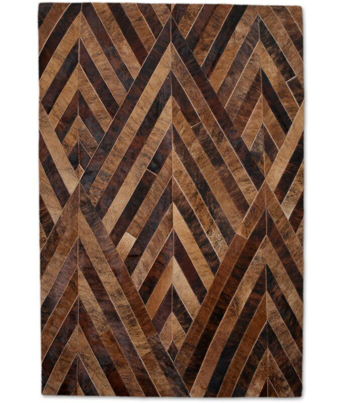 Modern Rugs Geometric Handmade Leather Brown Tan Area Rug Leather Rug Rugs On Carpet Patchwork Cowhide Rug