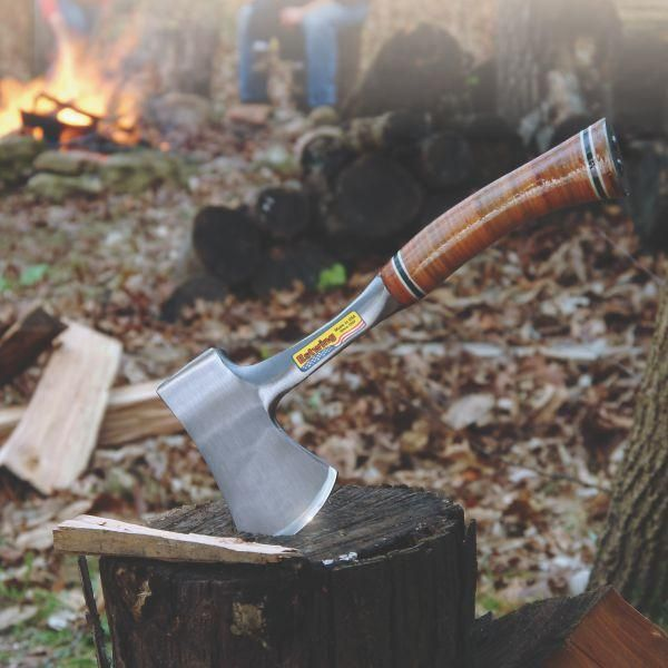 Estwing Sportsman Axe with Sheath - Leather Grip - E24AStill firewood season, and still time to go camping and sit by a fire to relax and enjoy life... Click to see what you need.. #estwing #estwingaxe #campfire #firewood #botanex #botanexstore #qualityproducts #outdoors #camping #glamping #outdoorcooking #wantone
