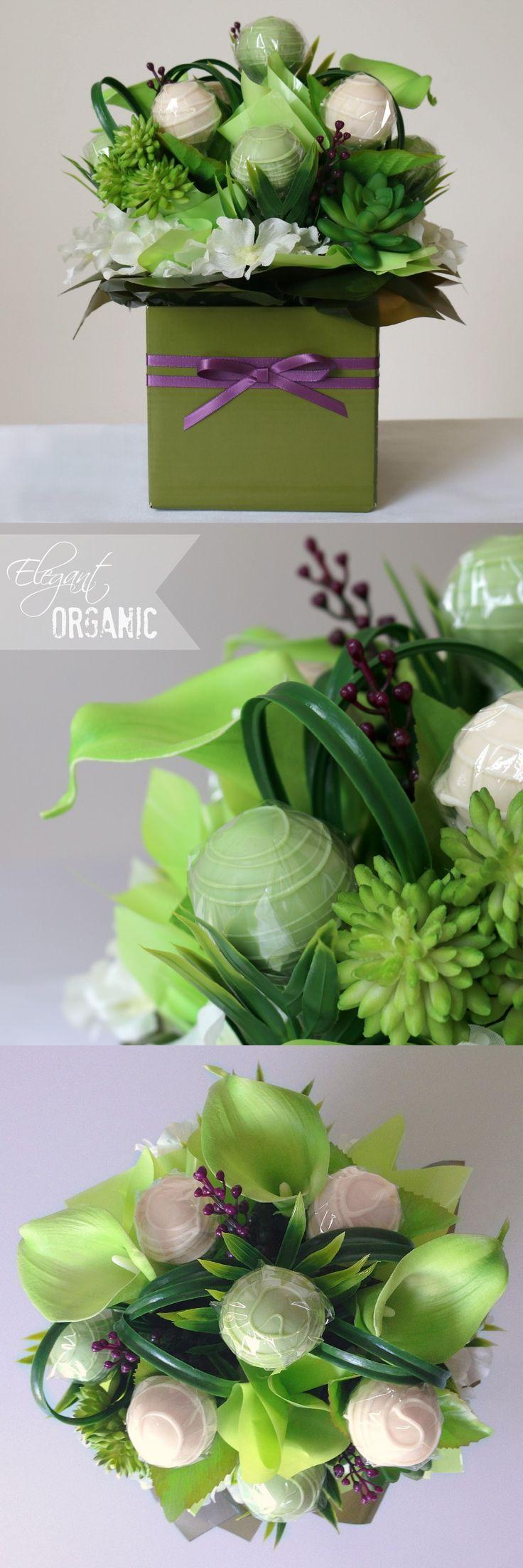 ELEGANT ORGANIC Cake Pops Floral Arrangement | Bouquet | Gift posie box | 9 set. Succulents | Calla Lilies | Plum Berries https://www.etsy.com/au/listing/202998442/elegant-organic-cake-pops-floral?ref=listing-shop-header-0