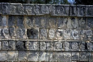 Chichen Itza. Yucatan. Mexico - Skull rack. Ballcourt - 9th c