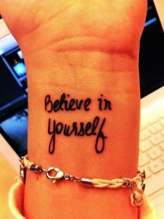 Cute Black Wrist Small Quote Tattoos for Girls - Black Wrist Small... - Tattoo - Sexy: Hot Quote tattoos for girls by Quote Tattoos