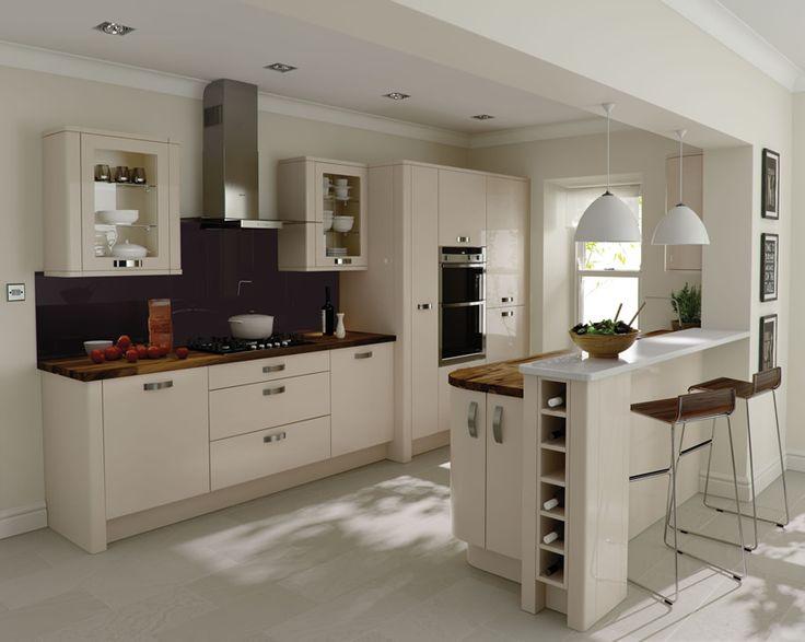 A Porter Beige High Gloss Kitchen Design Idea http://www.diy-kitchens.com/kitchens/porter-beige/details/