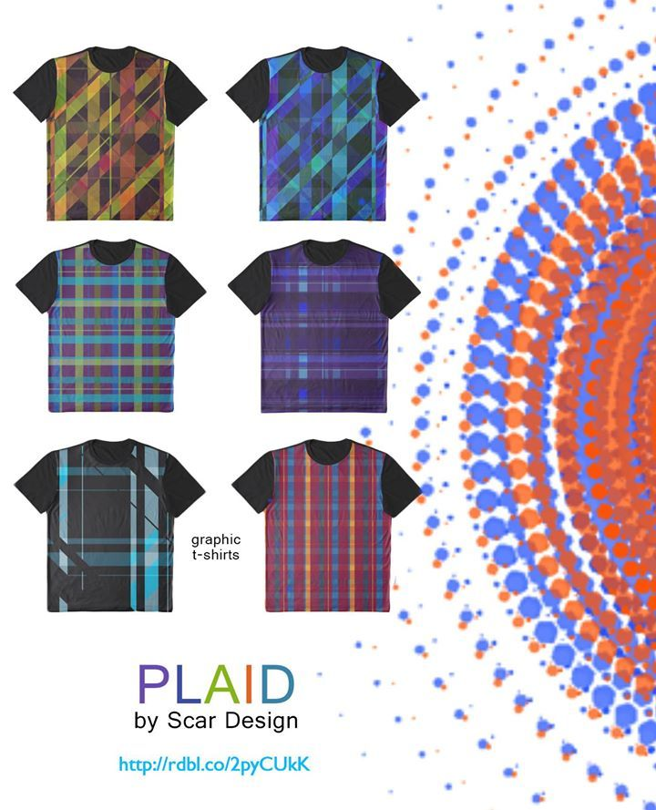 Plaid Graphic T-Shirts, Cool Summer Gifts by Scar Design   #plaid #tshirts #summer #gifts #summertshirts #summer2017 #summerfashion #scardesign #redbubble #plaidtshirts #giftsforhim #giftsforher #graphictshirts