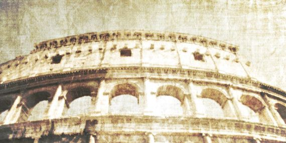 Photographic Art Print Distressed Rome Italy  by TDMillerArtPrints, Colleseum