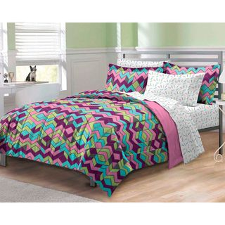Albuquerque Zig Zag 7 Piece Bed In A Bag With Sheet Set